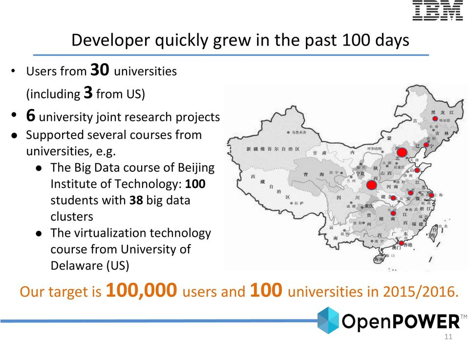 The Big Data course of Beijing Institute of Technology: 100 students with 38 big data clusters The