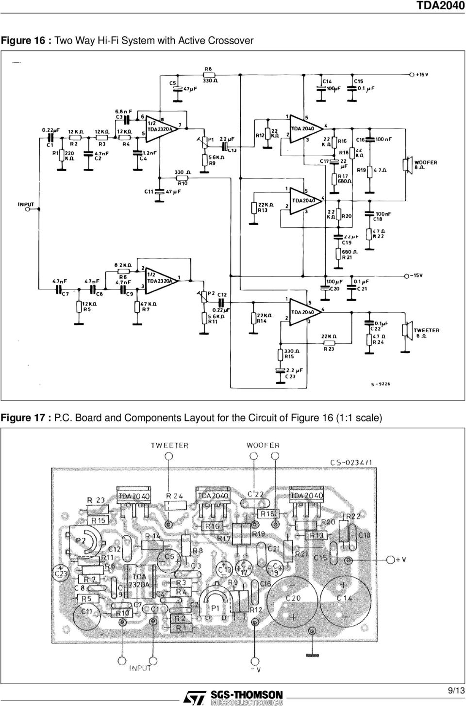 C. Board and Components Layout for