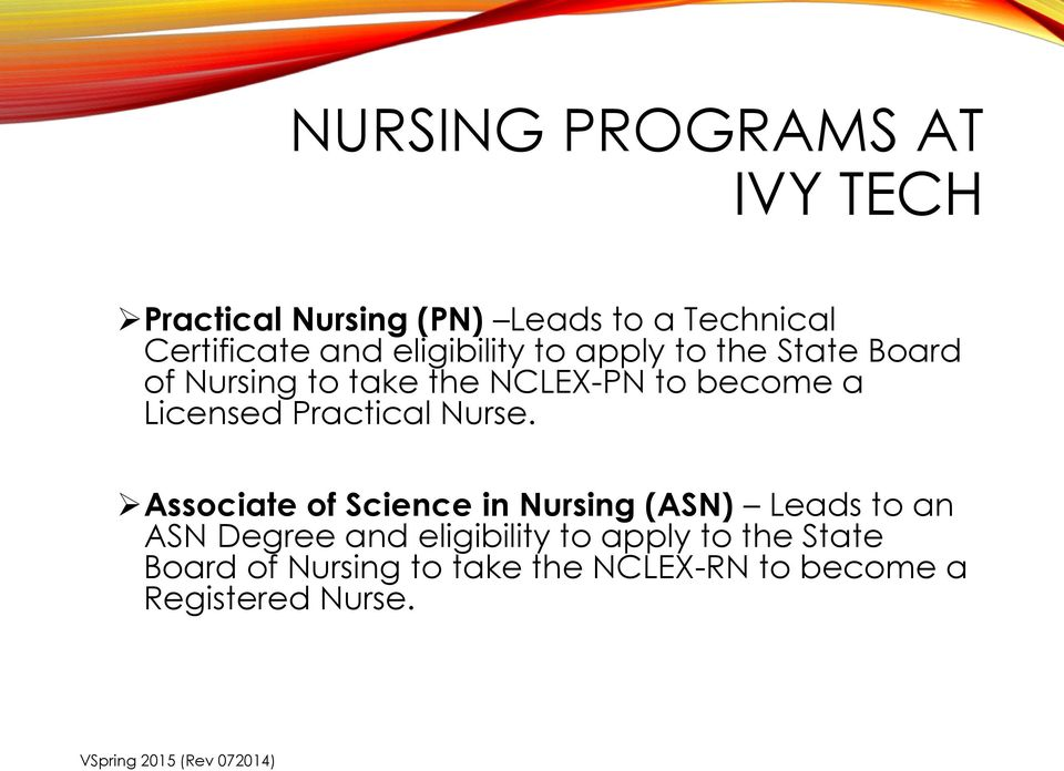 Licensed Practical Nurse.