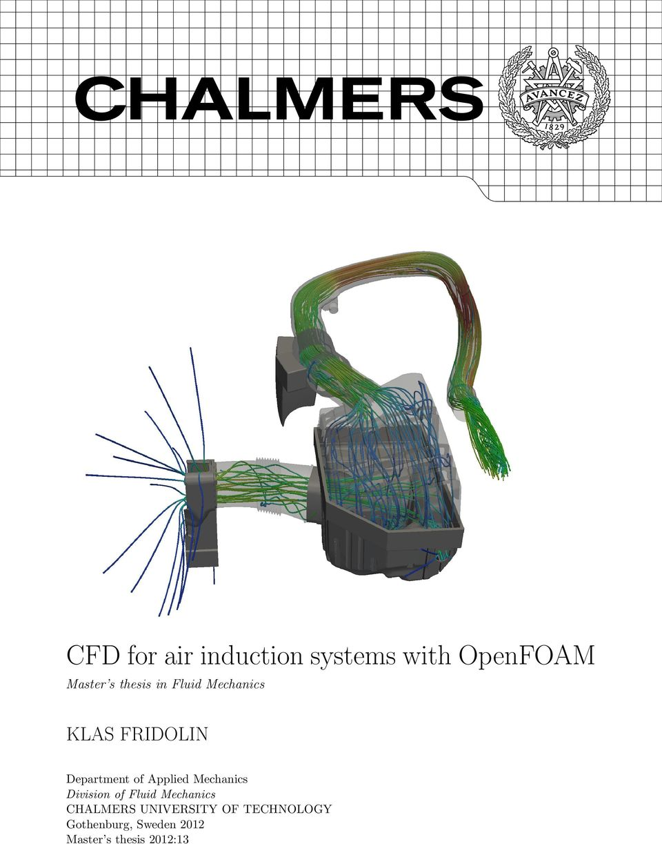 CFD for air induction systems with OpenFOAM Master s thesis in     DocPlayer net