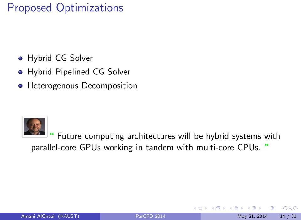 hybrid systems with parallel-core GPUs working in tandem with