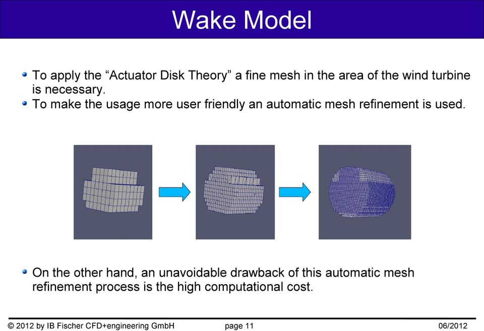 To make the usage more user friendly an automatic mesh refinement is used.