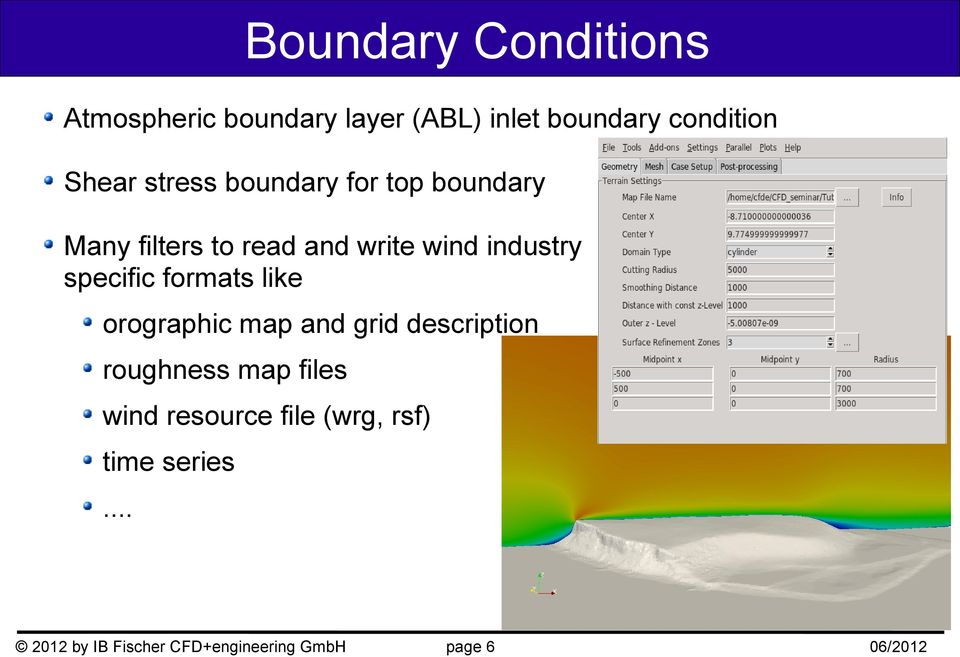 industry specific formats like orographic map and grid description roughness map