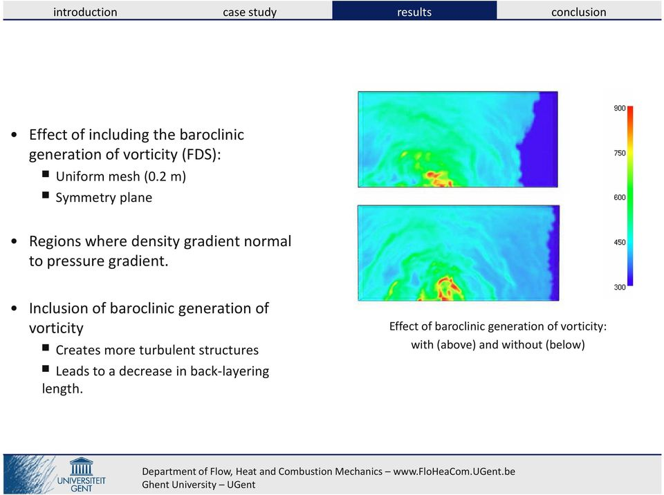 Inclusion of baroclinic generation of vorticity Creates more turbulent structures Leads to