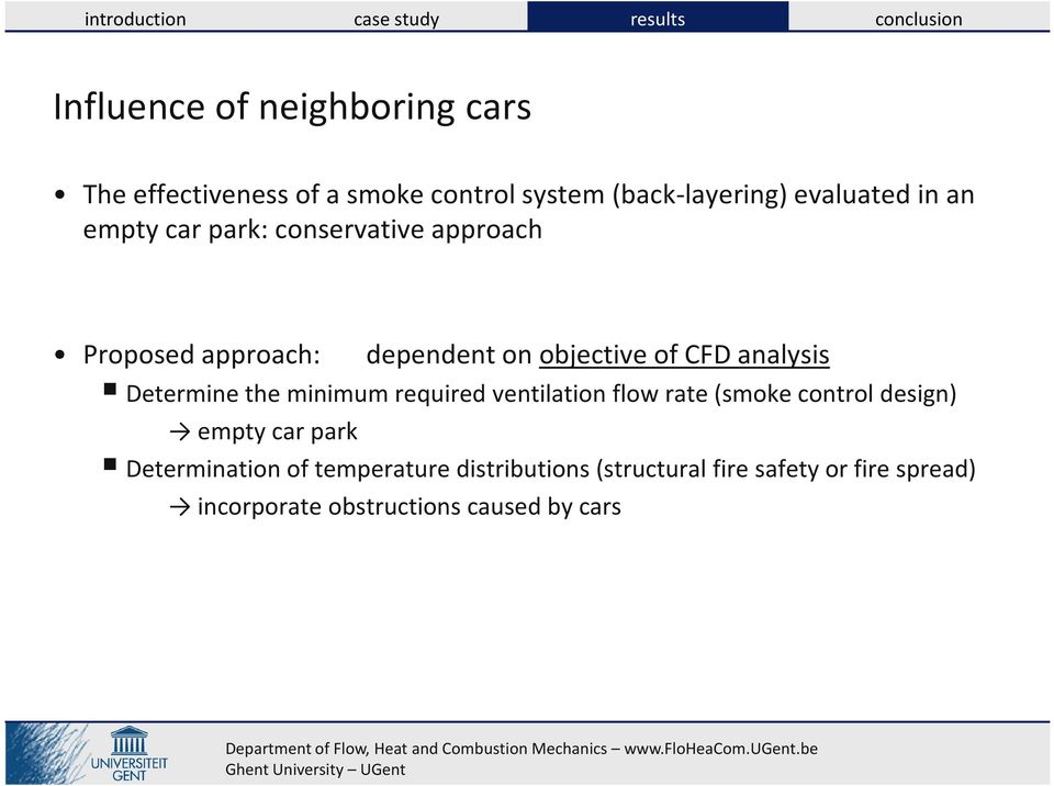 Determine the minimum required ventilation flow rate (smoke control design) empty car park