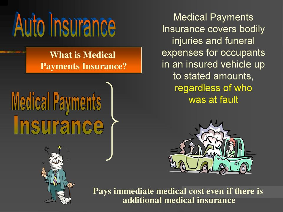 expenses for occupants in an insured vehicle up to stated amounts,