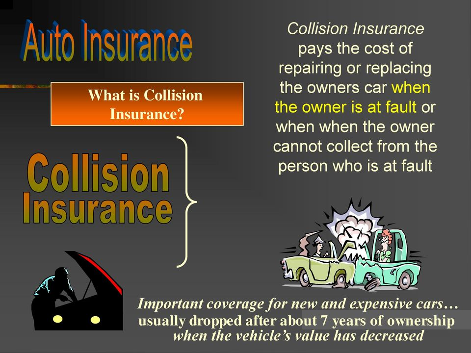 owner is at fault or when when the owner cannot collect from the person who is at