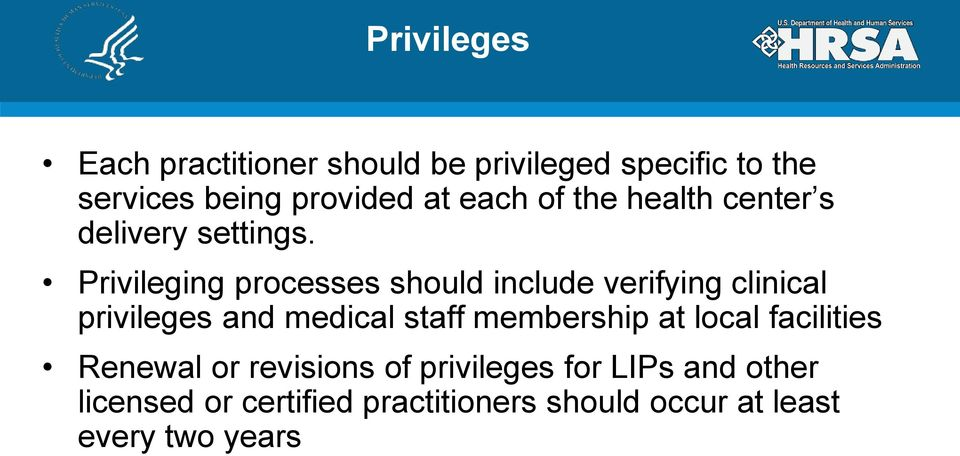 credentialing and clinical privileges Core privileges for physicians: a practical approach to developing and implementing crite- ria-based forms she has authored multiple books on credentialing allied health professionals (ahp).