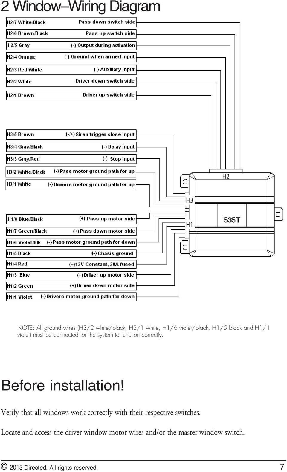 535t window automation system