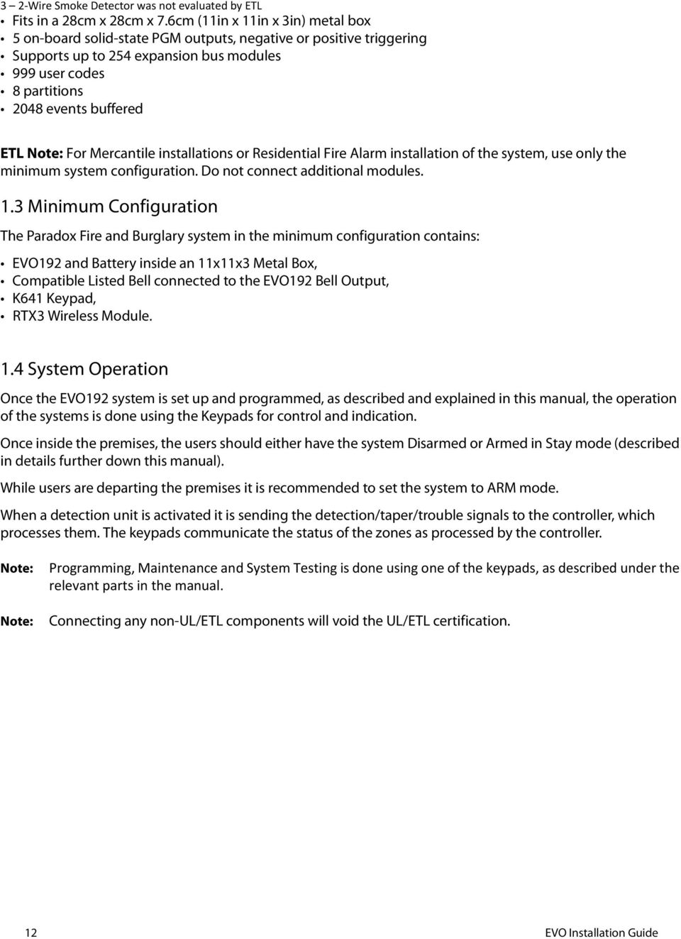 Fire and burglary alarm system evo192 installation guide pdf note for mercantile installations or residential fire alarm installation of the system use only 1betcityfo Gallery
