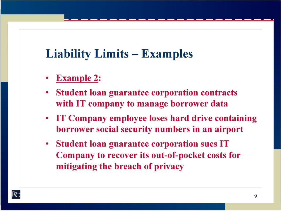 containing borrower social security numbers in an airport Student loan guarantee