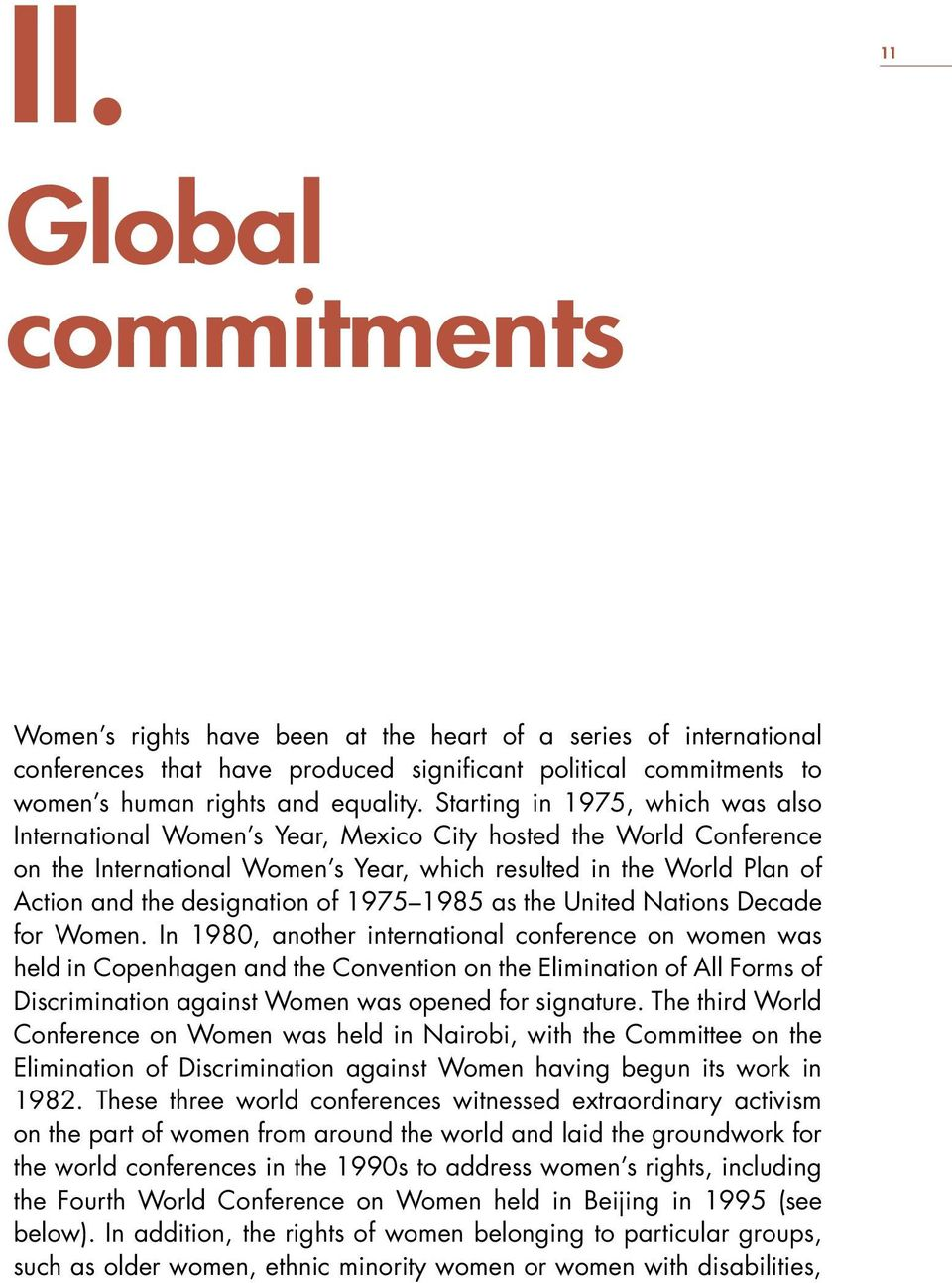 of 1975 1985 as the United Nations Decade for Women.