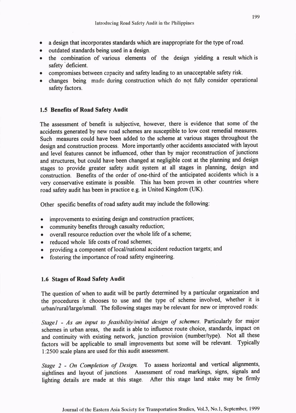 I introduction introducing road safety audit in the philippines pdf o changes being made during construction which do not fully consider operational safety factors 1 buycottarizona Image collections
