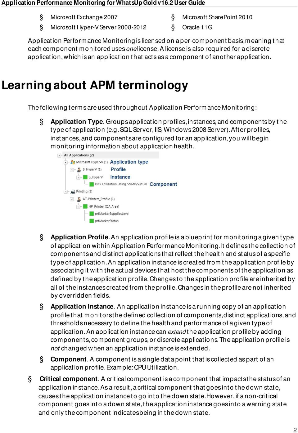 Learning about APM terminology The following terms are used throughout Application Performance Monitoring: Application Type.