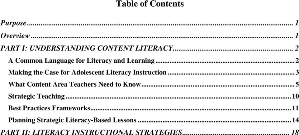 ..2 Making the Case for Adolescent Literacy Instruction.