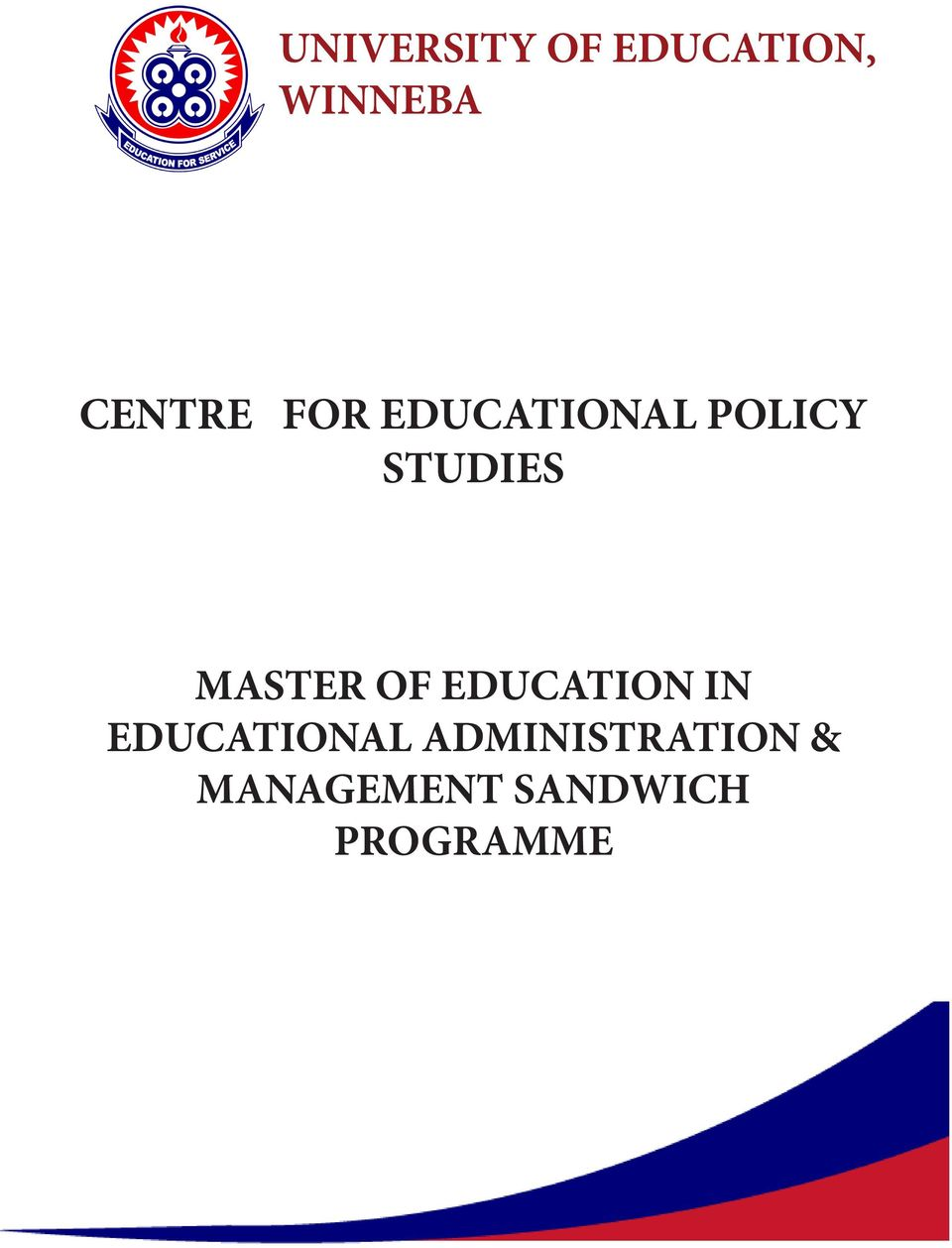 MASTER OF EDUCATION IN EDUCATIONAL
