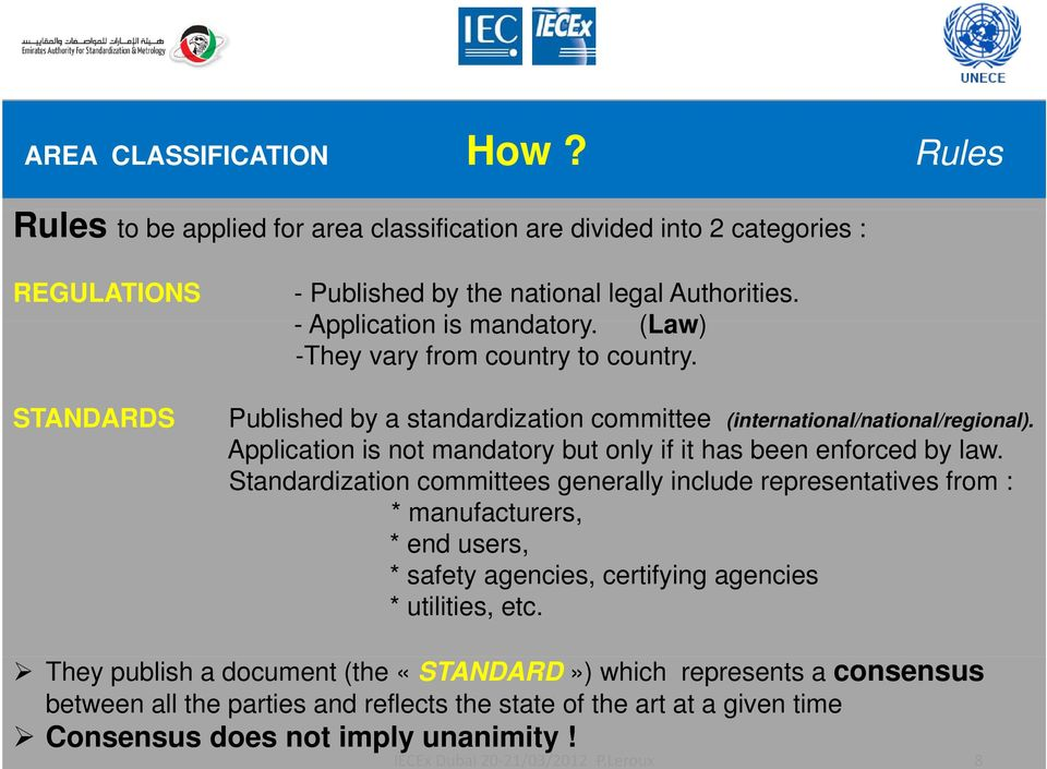 Application is not mandatory but only if it has been enforced by law.