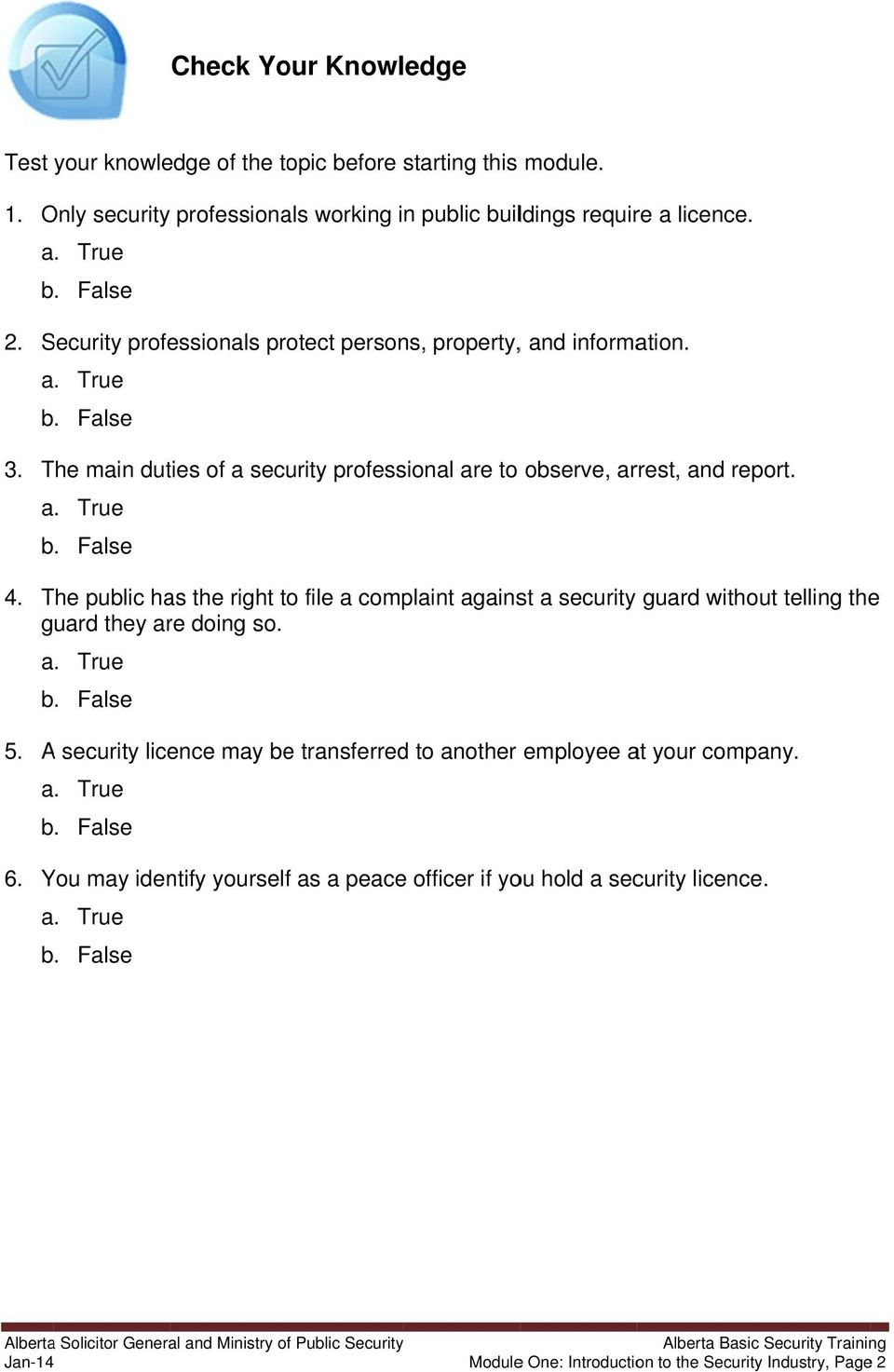 alberta gene eral and ministry c security icipant part pdf the public has the right to file a complaint against a security guard out telling the
