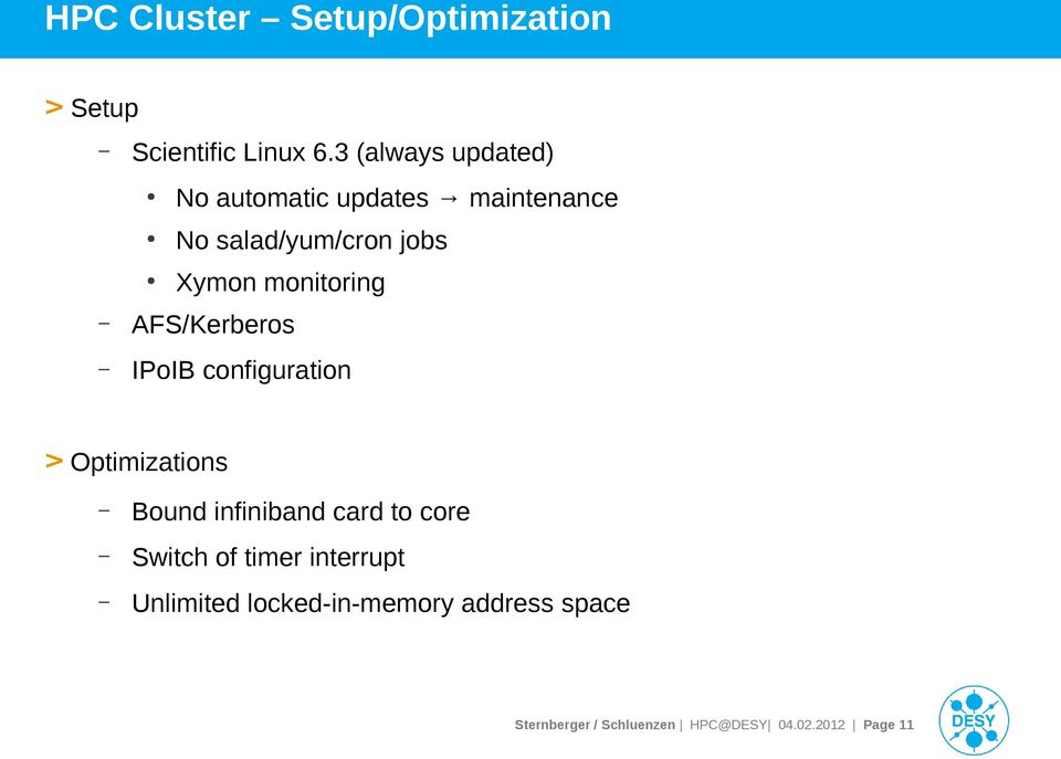 monitoring AFS/Kerberos IPoIB configuration > Optimizations Bound infiniband card to