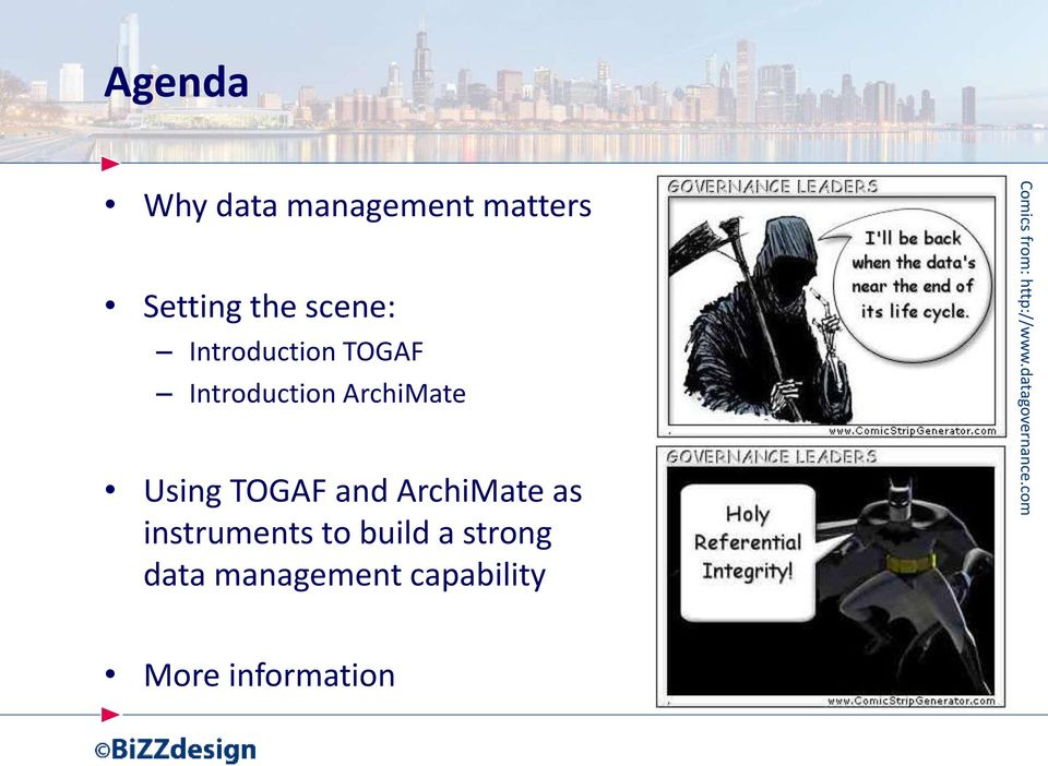 ArchiMate as instruments to build a strong data management