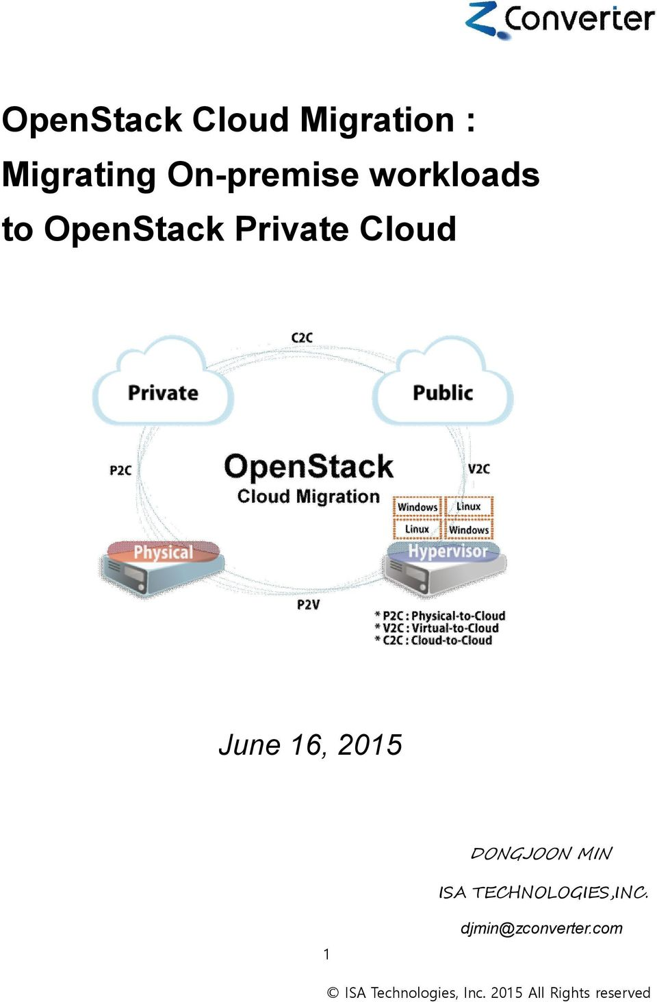 OpenStack Cloud Migration : Migrating On-premise workloads