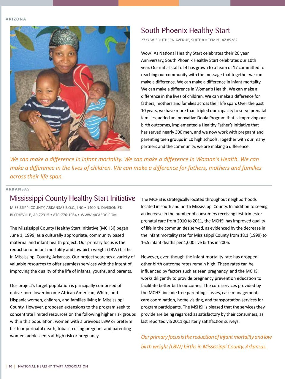 com The Mississippi County Healthy Start Initiative (MCHSI) began June 1, 1999, as a culturally appropriate, community based maternal and infant health project.