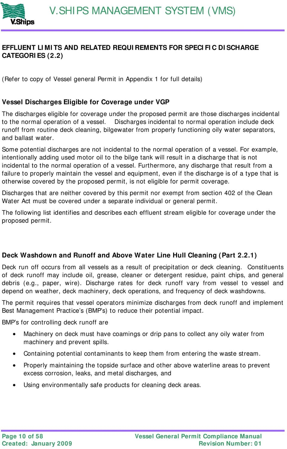 discharges incidental to the normal operation of a vessel.