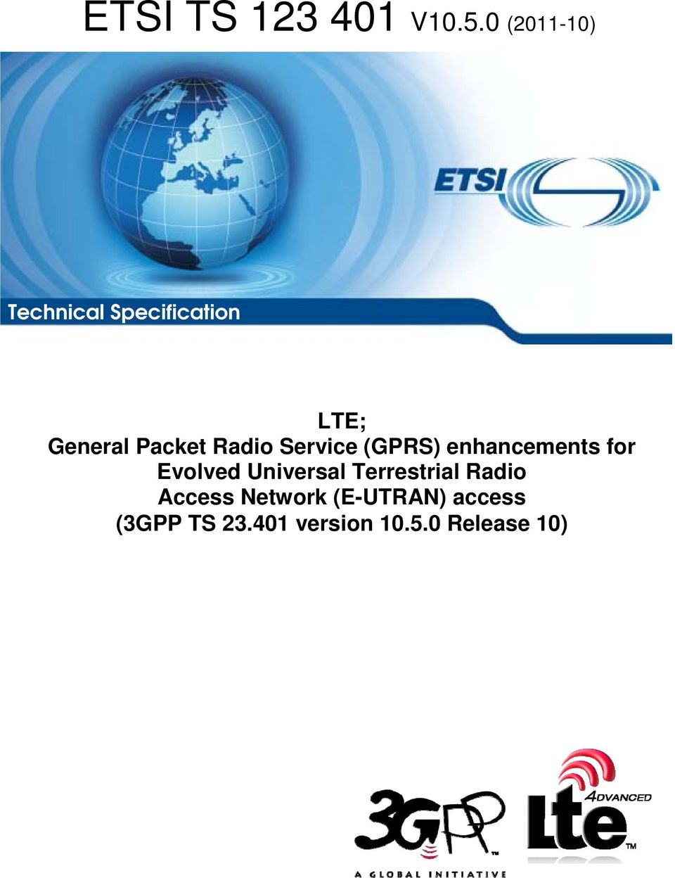 Radio Service (GPRS) enhancements for Evolved Universal