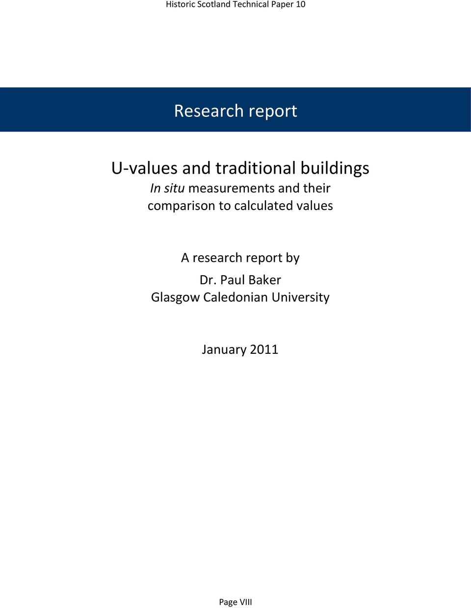 their comparison to calculated values A research report by