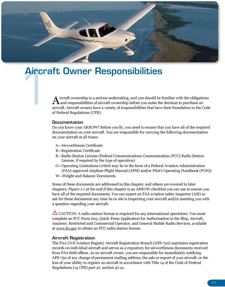 Before you fly, you need to ensure that you have all of the required documentation on your aircraft.