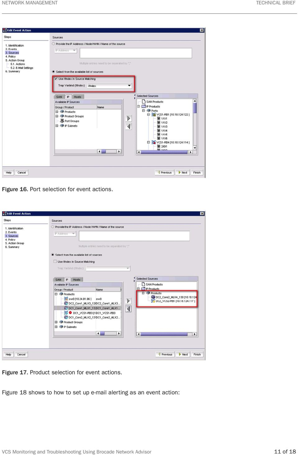 Figure 18 shows to how to set up e-mail alerting as an