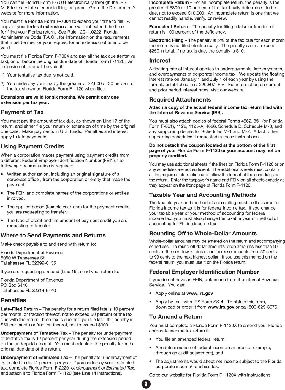 F 1120 instructions what s inside florida department of revenue pdf 0222 florida administrative code fac for information on the requirements that must falaconquin