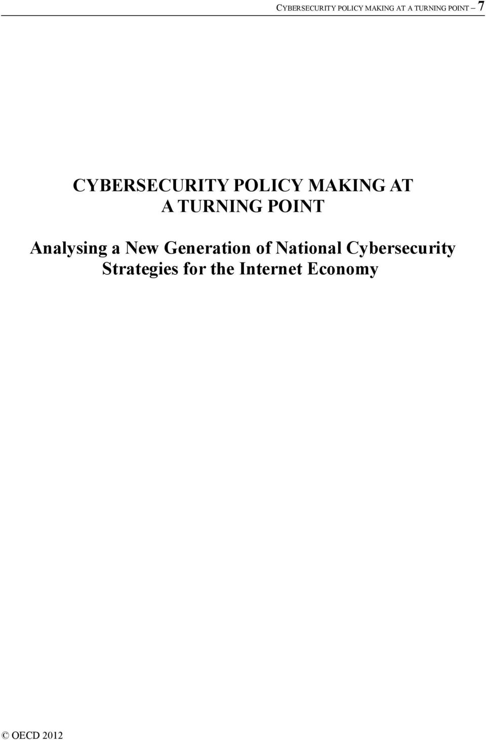 National Cybersecurity Strategies for the