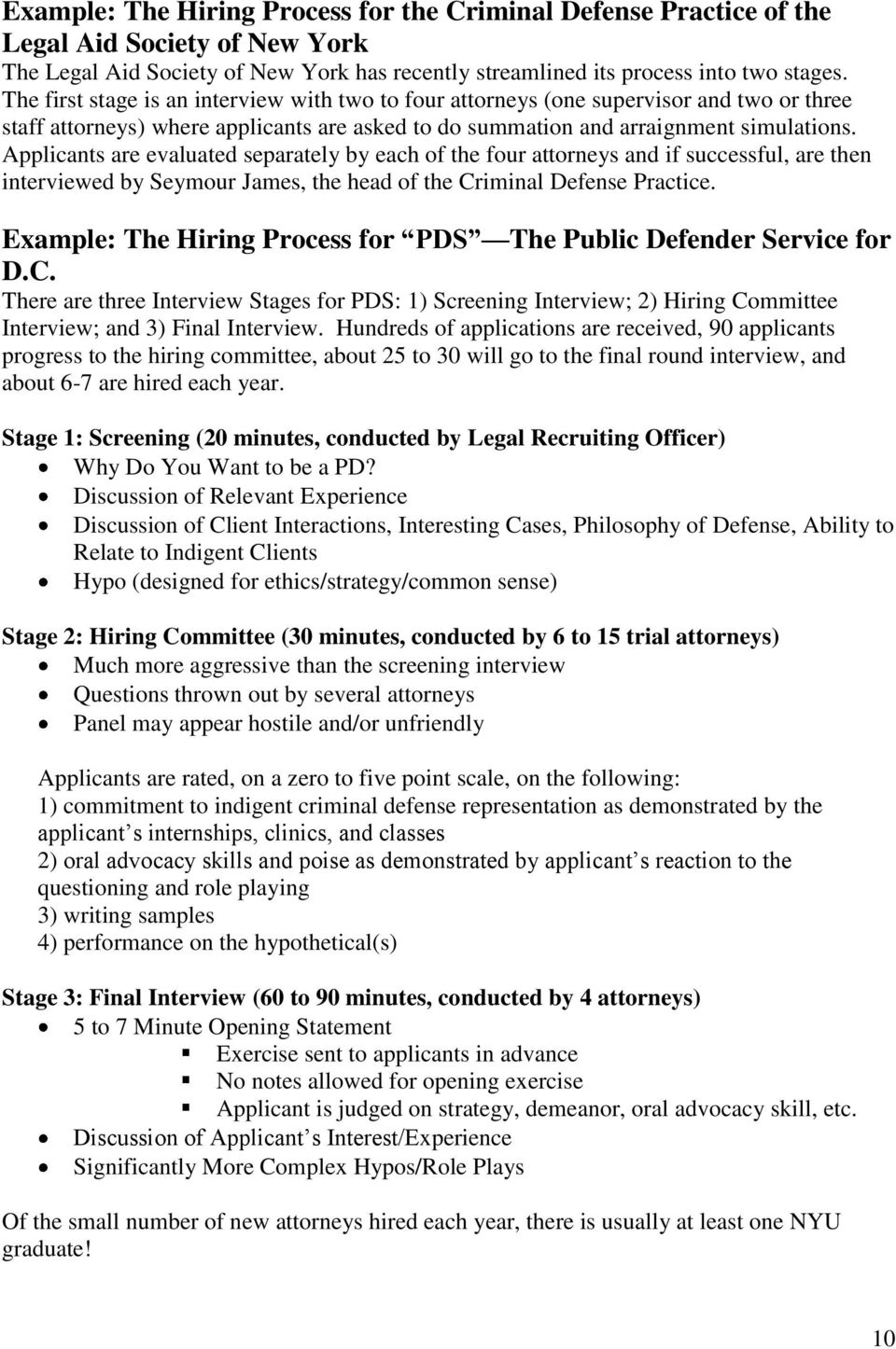 public defender handbook pdf applicants are evaluated separately by each of the four attorneys and if successful are then