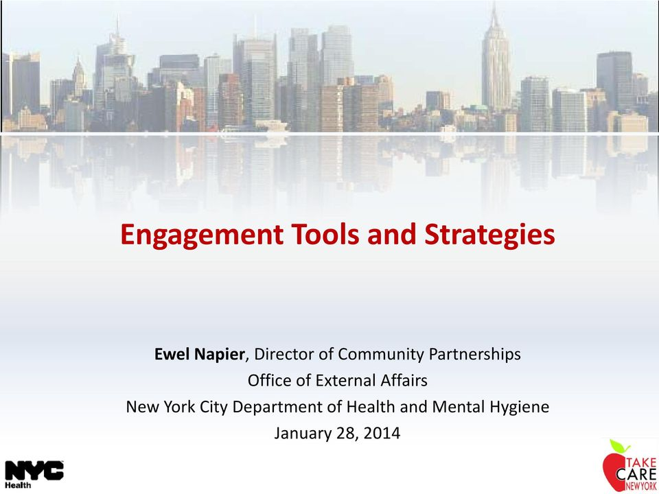 External Affairs New York City Department of