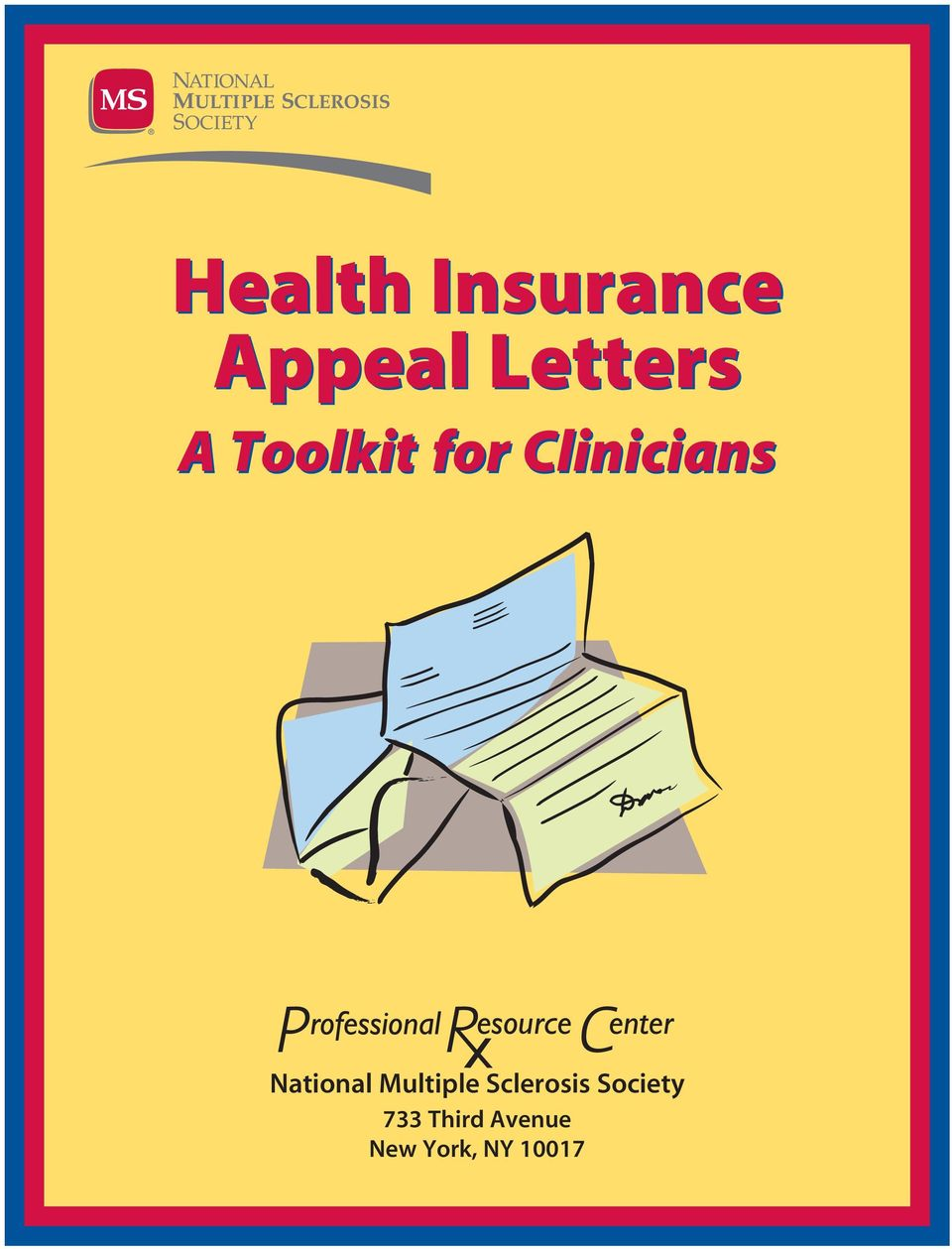 national multiple sclerosis 2 3 health insurance appeal letters