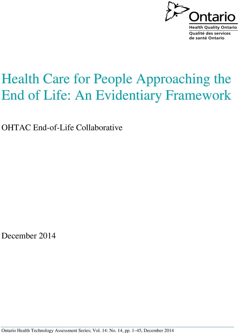 Collaborative December 2014 Ontario Health