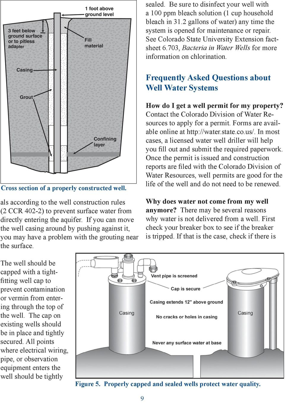Frequently Asked Questions about Well Water Systems Cross section of a properly constructed well.