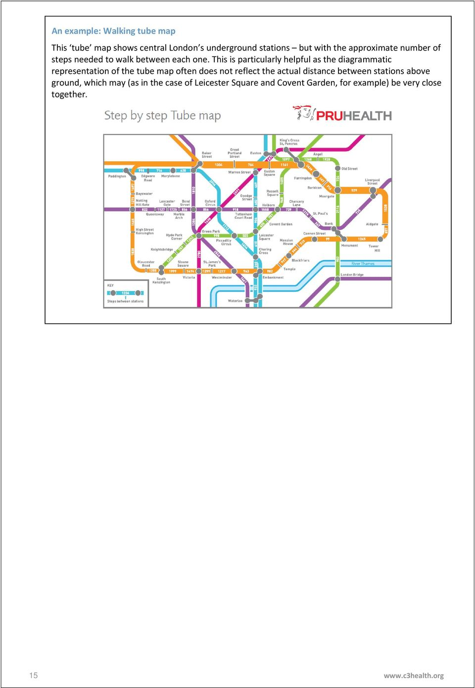 This is particularly helpful as the diagrammatic representation of the tube map often does not reflect the