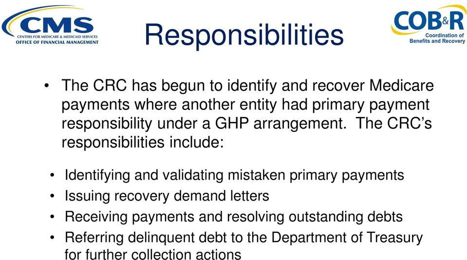 medicare secondary payer commercial repayment center group health