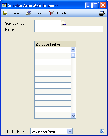 CHAPTER 2 SETUP IN SERVICE CALL MANAGEMENT 3. Enter details about each office. 4. Enter an inventory site for the Good Location and Bad Location for the office. 5.