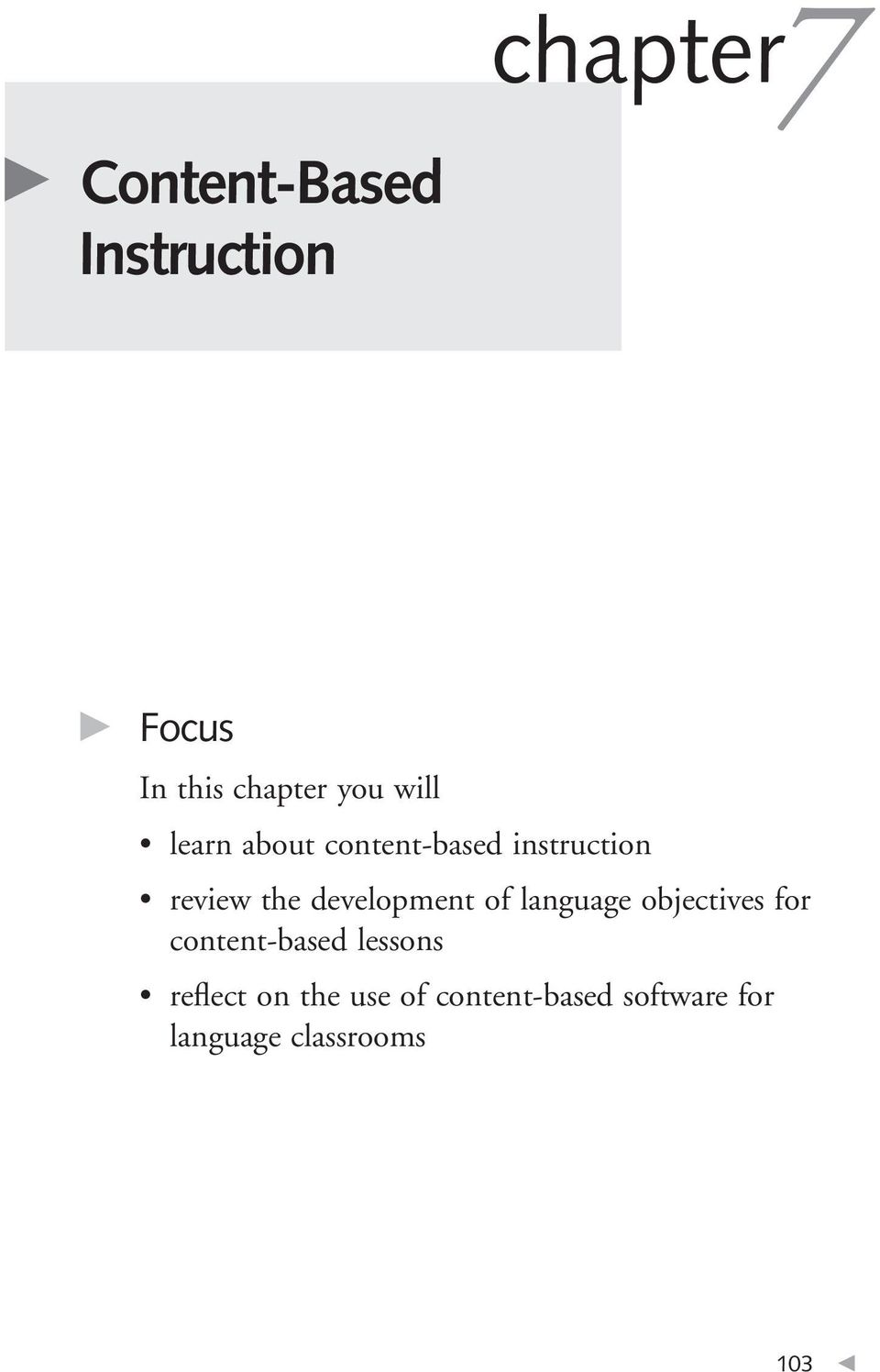 the development of language objectives for content-based lessons