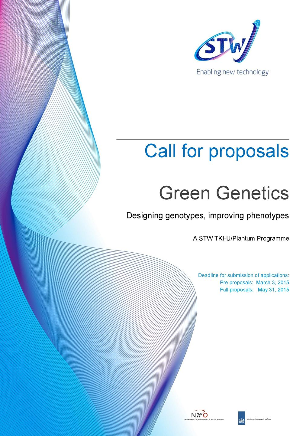 TKI-U/Plantum Programme Deadline for submission of