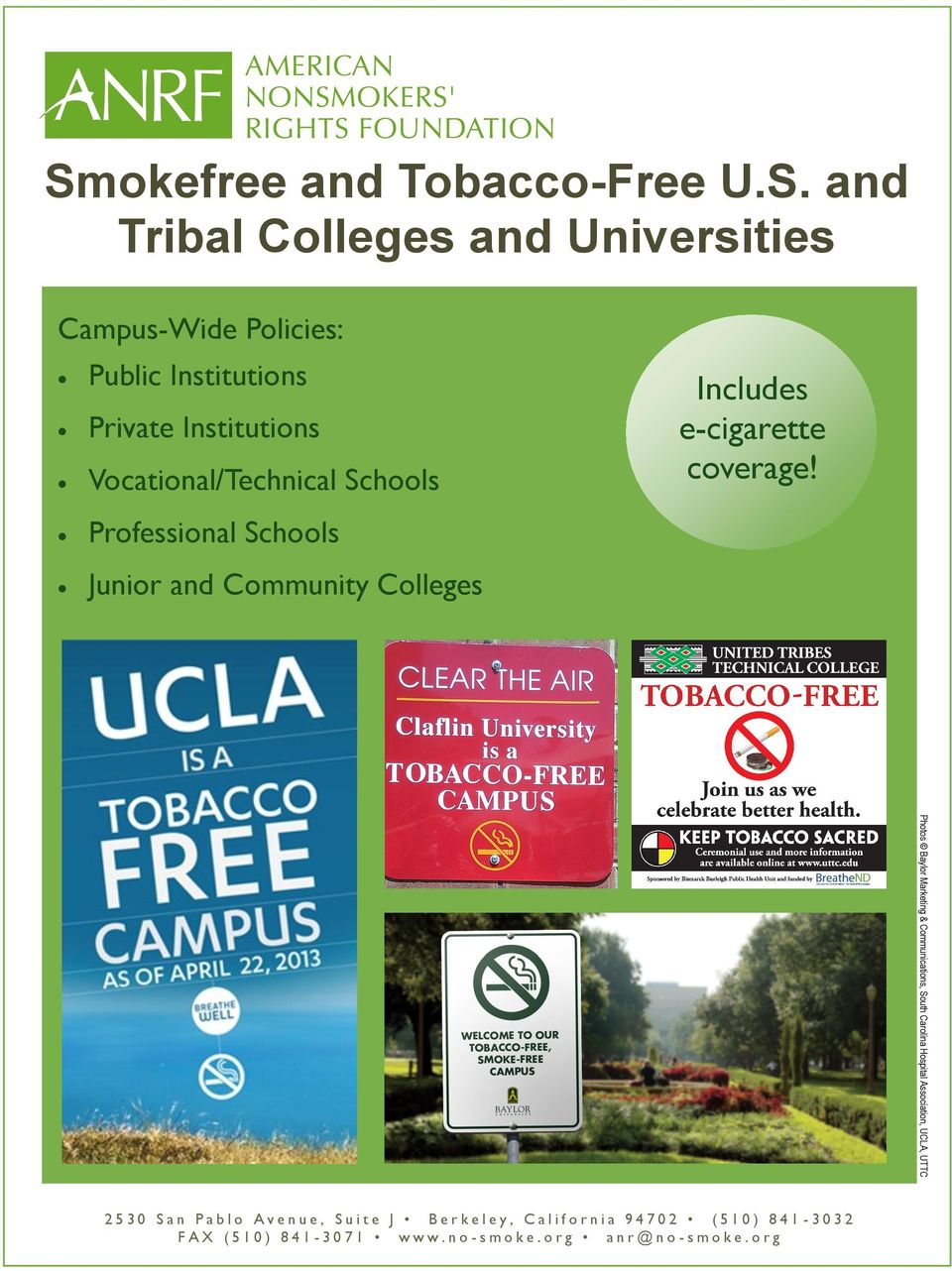 okefree and Tobacco-Free U.S.