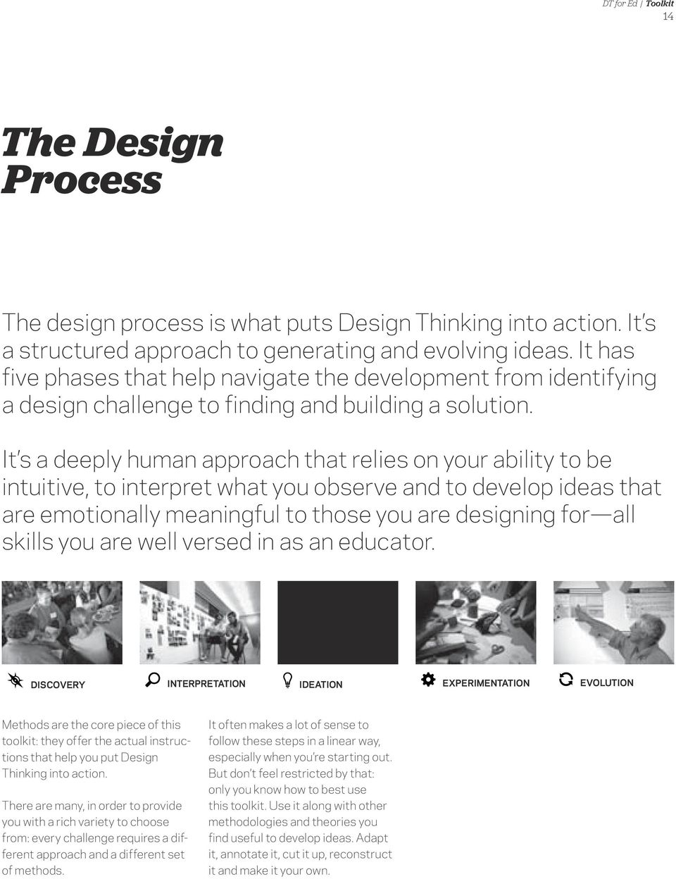 It s a deeply human approach that relies on your ability to be intuitive, to interpret what you observe and to develop ideas that are emotionally meaningful to those you are designing for all skills