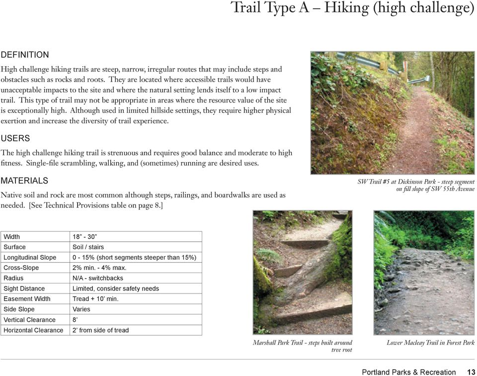 This type of trail may not be appropriate in areas where the resource value of the site is exceptionally high.