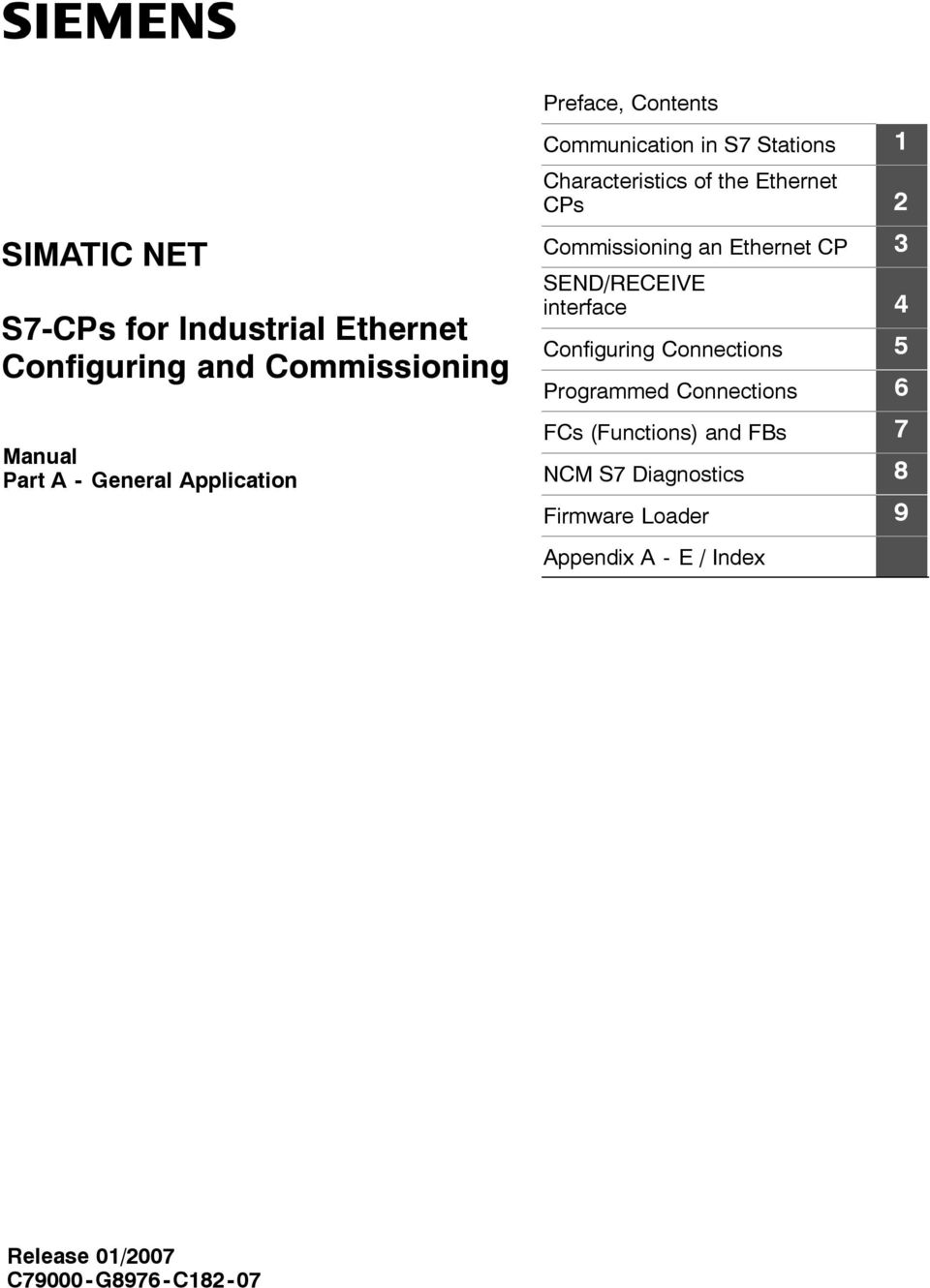 2 Commissioning an Ethernet CP 3 SEND/RECEIVE interface 4 Configuring Connections 5 Programmed