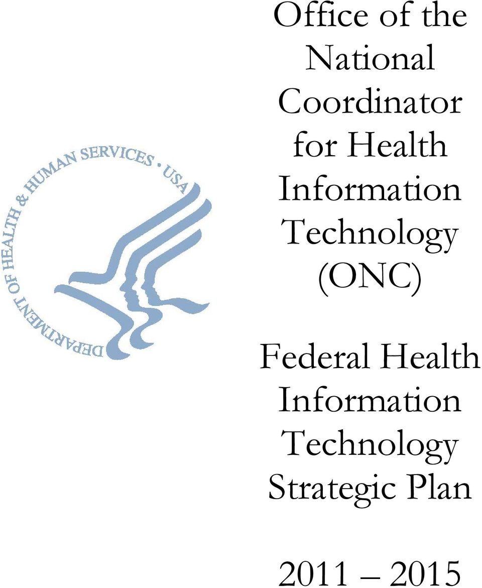 (ONC) Federal Health Information