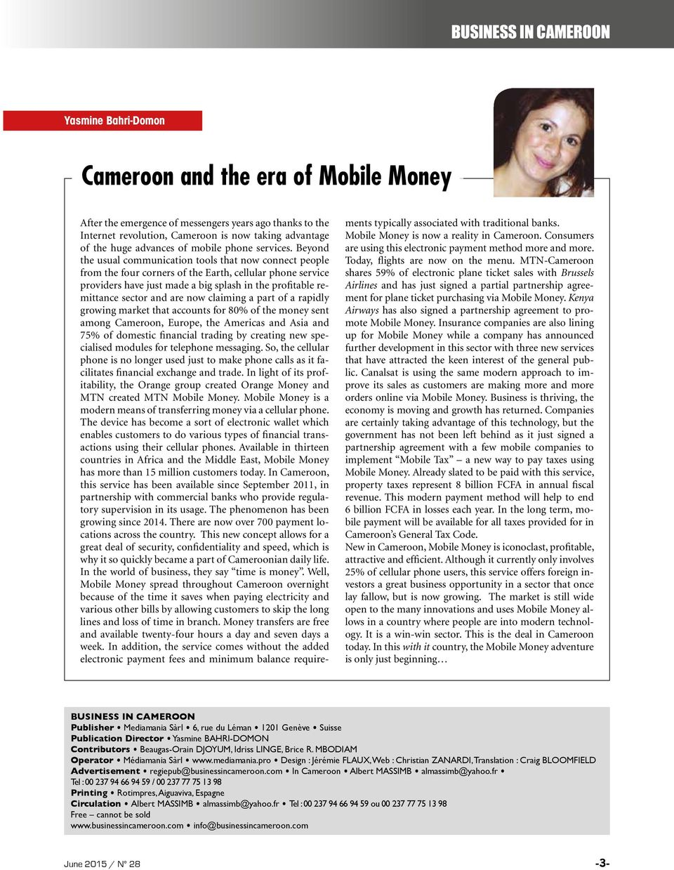 Cameroon business in mobile money ready for take off in for Domon services financiers