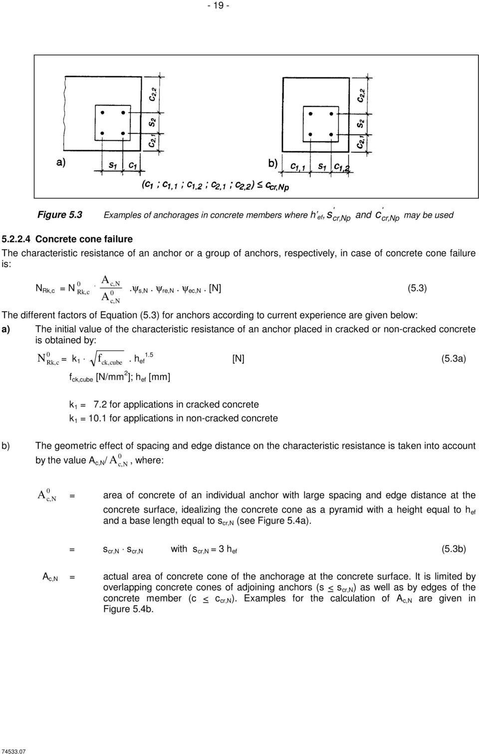 3) c,n The different factors of Equation (5.